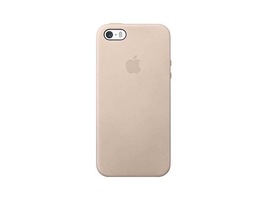 Чехол-крышка Apple Case MF042ZM/A для iPhone 5S, кожа, бежевый