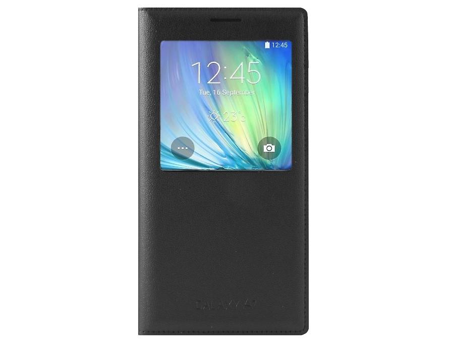 Чехол-книжка Samsung EF-CA700BCE для Galaxy A7, поликарбонат / полиуретан, серый