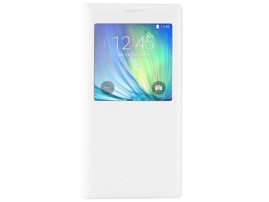 Чехол-книжка Samsung EF-CA700BWE для Galaxy A7, поликарбонат / полиуретан, белый