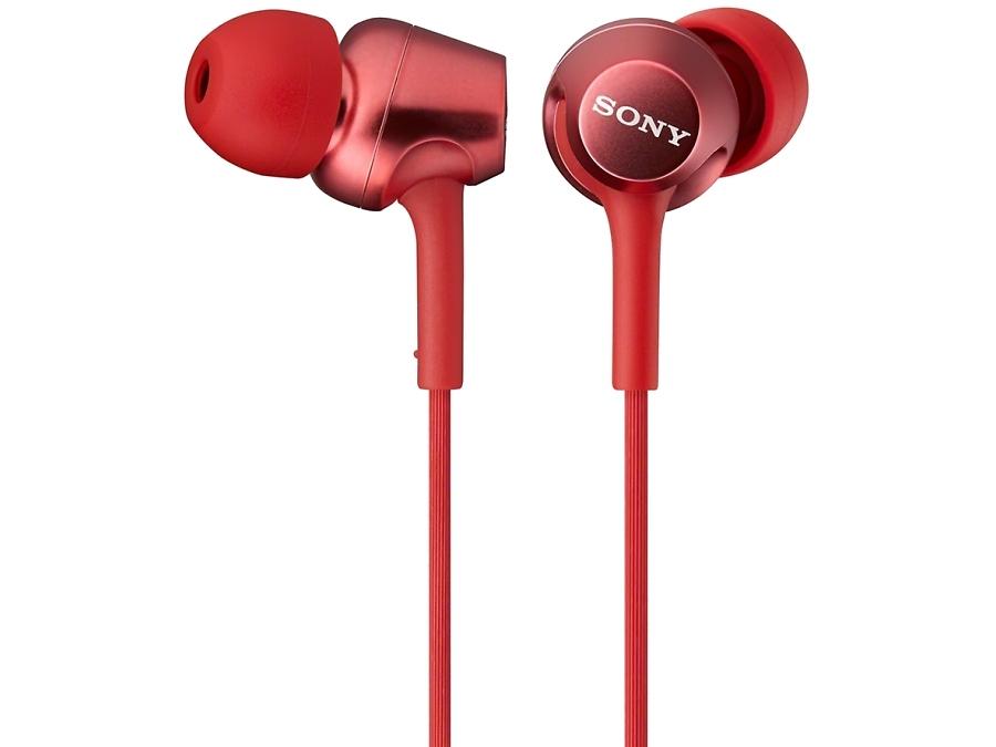 Наушники Sony MDR-EX150, стерео (красные)